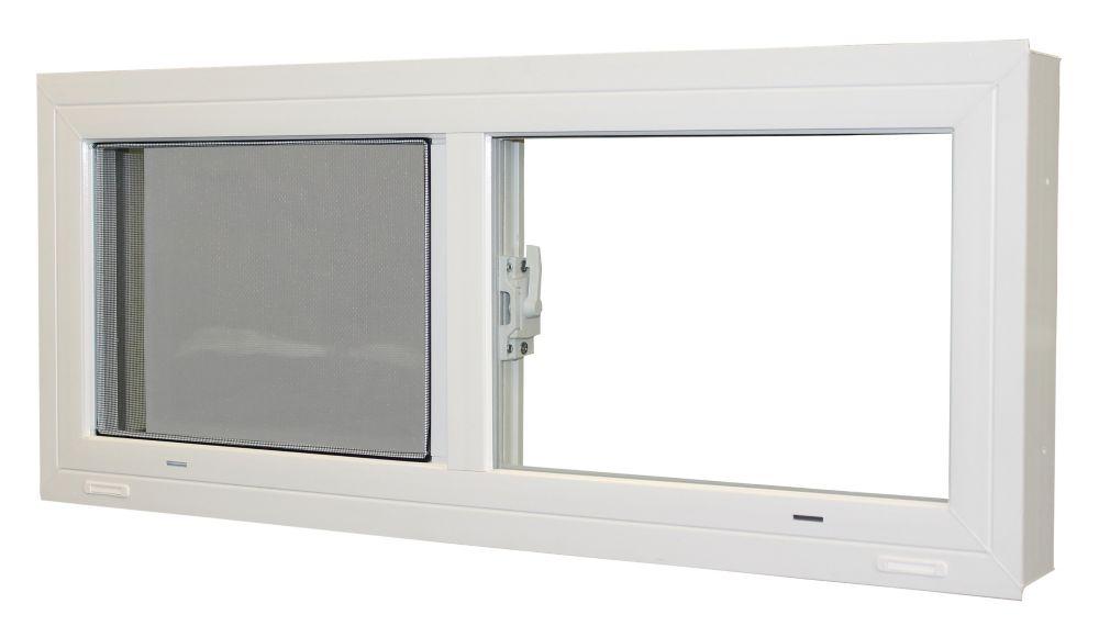 Fenêtre coulissante pour sous-sol (30 po x 13.5 po)
