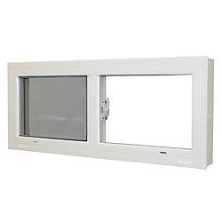 Farley Windows 28 1/4-inch x 13 1/2-inch Sliding Basement Window