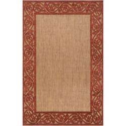 Artistic Weavers Tapis de passage d'intérieur/extérieur, 8 pi 8 po x 12 pi, style transitionnel, rectangulaire, havane Garden View