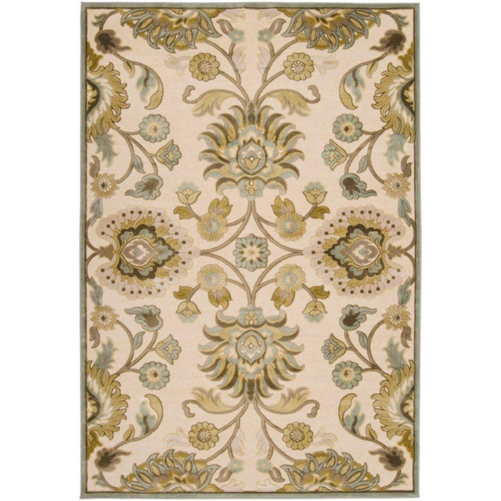 Lauren Ivory Viscose/Chenille  Area Rug - 7 Feet 6 Inches x 10 Feet 6 Inches