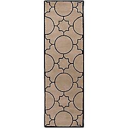Artistic Weavers Tapis de passage d'intérieur, 2 pi 6 po x 8 pi, style transitionnel, havane Oscar