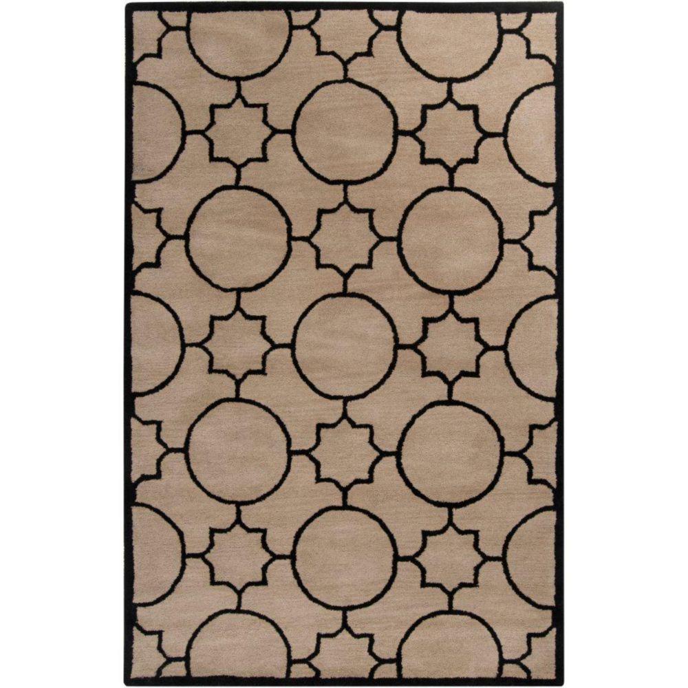 Oscar Ivory Wool 5 Feet x 7 Feet 9 Inch Area Rug