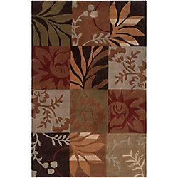 Artistic Weavers Carpette d'intérieur, 3 pi 6 po x 5 pi 6 po, style contemporain, rectangulaire, brun Equinox