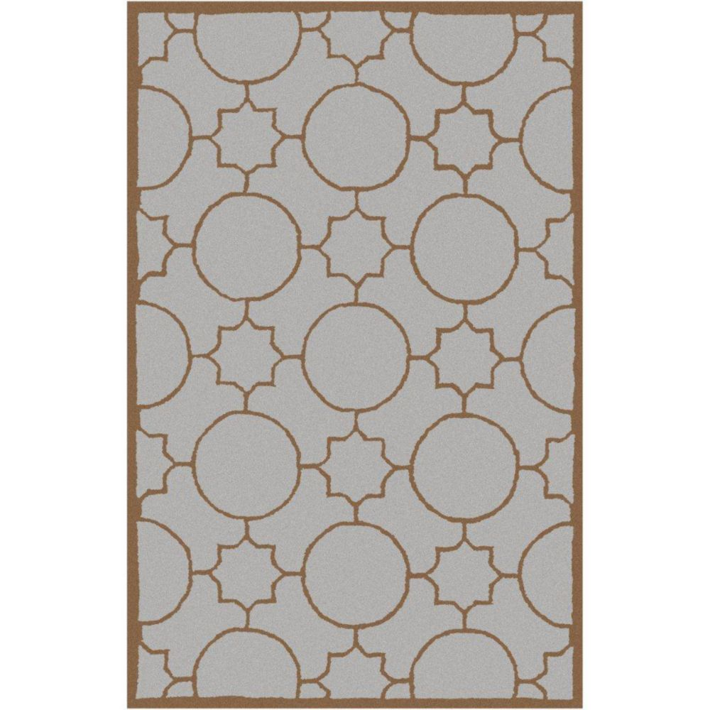 Artistic Weavers Oscar Grey 3 ft. 6-inch x 5 ft. 6-inch Indoor Transitional Rectangular Area Rug