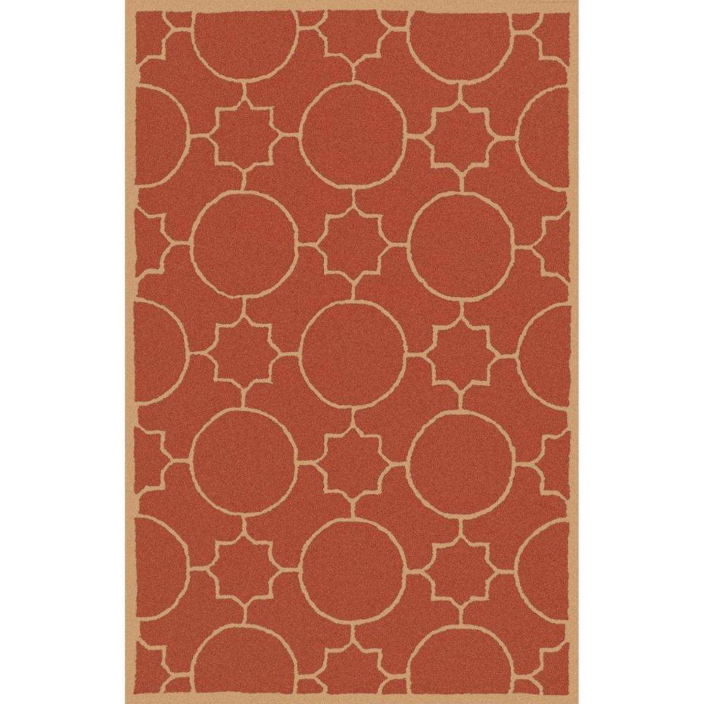 Oscar Rust Wool 3 Feet 6 Inch x 5 Feet 6 Inch Area Rug OSC6002-3656 Canada Discount
