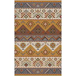 Artistic Weavers Carpette d'intérieur, 3 pi 6 po x 5 pi 6 po, style contemporain, rectangulaire, or Dillon