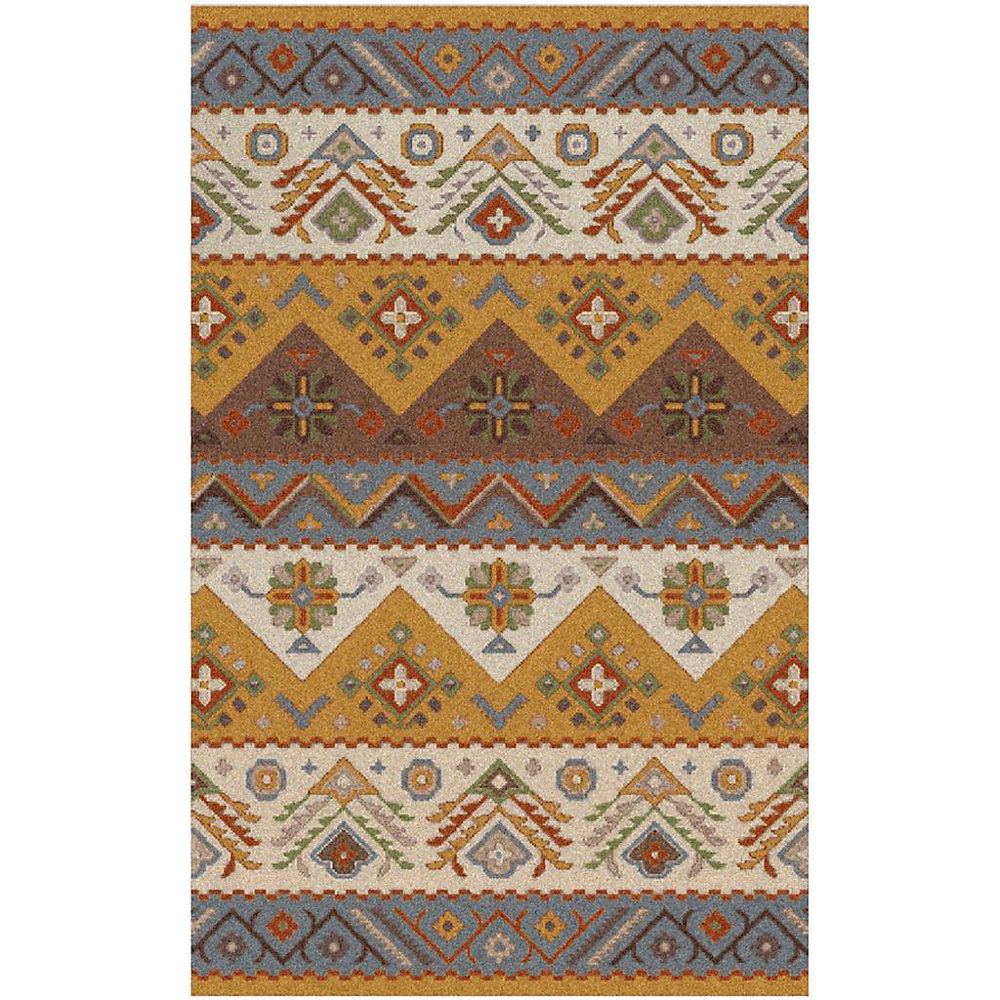 Dillon Gold 5 ft. x 7 ft. 9-inch Indoor Contemporary Rectangular Area Rug