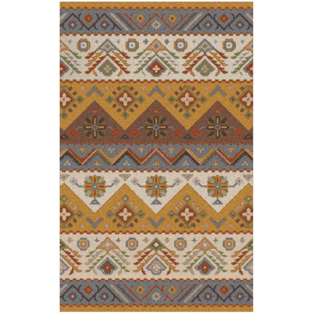 Artistic Weavers Carpette d'intérieur, 5 pi x 7 pi 9 po, style contemporain, rectangulaire, or Dillon