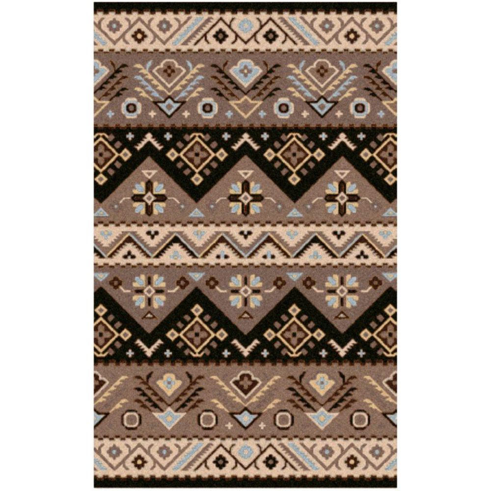 Dillon Black Wool 8 Ft. x 10 Ft. Area Rug