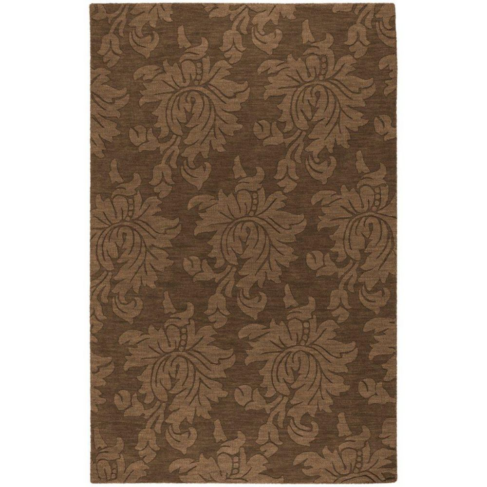 Sofia Brown Wool 5 Feet x 7 Feet 9 Inch Area Rug