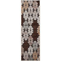 Artistic Weavers Tapis de passage d'intérieur, 2 pi 6 po x 7 pi 10 po, style transitionnel, brun Cynthia