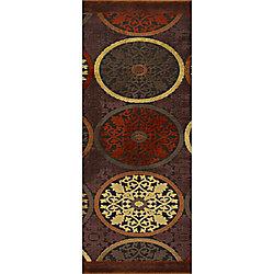 Artistic Weavers Tapis de passage d'intérieur, 2 pi 6 po x 7 pi 10 po, style transitionnel, brun Clay
