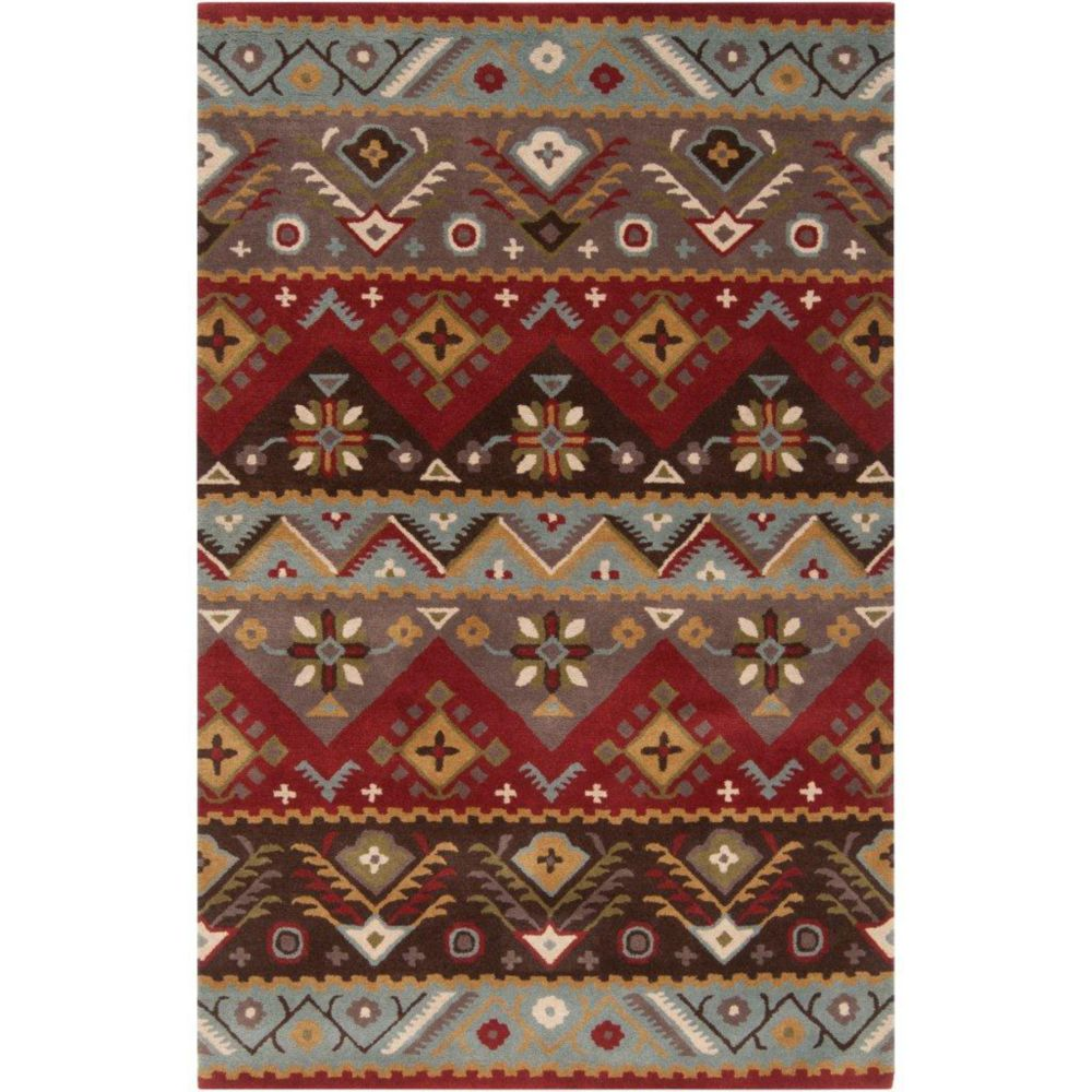 Dillon Rust Wool 5 Ft. x 7 Ft. Area Rug