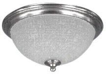 Collection SMART: Etoile d'énergie 2 Etain Flushmount Brossé Léger avec le Linge Verre Gravé