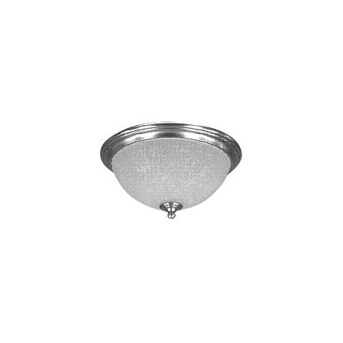 Canarm SMART Collection 2-Light Brushed Pewter Flushmount With Etched Linen Glass - ENERGY STAR®