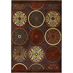 Artistic Weavers Carpette d'intérieur, 8 pi 8 po x 12 pi, style transitionnel, rectangulaire, brun Clay