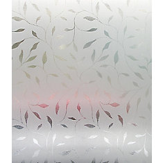 Light effects etched leaf window film 24 inch x 36 inch for Pellicule fenetre home depot