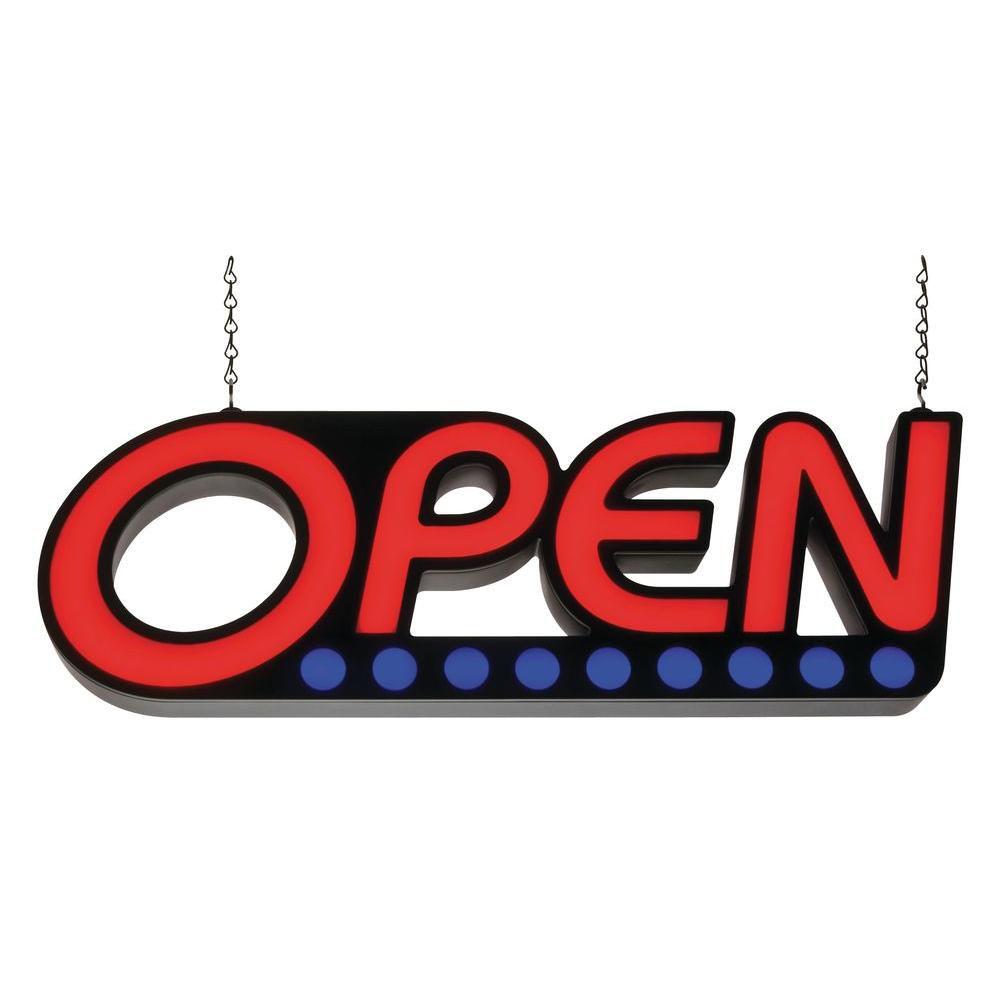 Led Shop Lights Home Depot Canada: Lithonia Lighting LED Open Sign