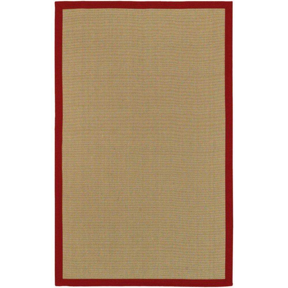 Border Town Red Sisal/Cotton 5 Feet x 7 Feet 9 Inch Area Rug
