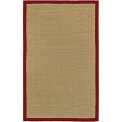 Artistic Weavers Carpette d'intérieur, 5 pi x 8 pi, style transitionnel, rectangulaire, havane Border Town