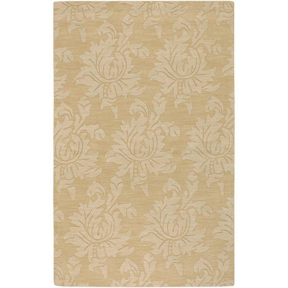 Sofia Gold Wool 5 Feet x 7 Feet 9 Inch Area Rug