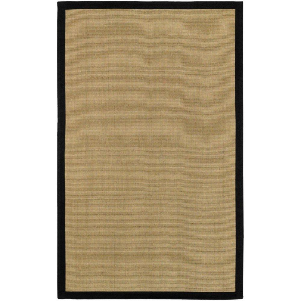 Border Town Black Sisal/Cotton 4 Ft. x 6 Ft. Area Rug