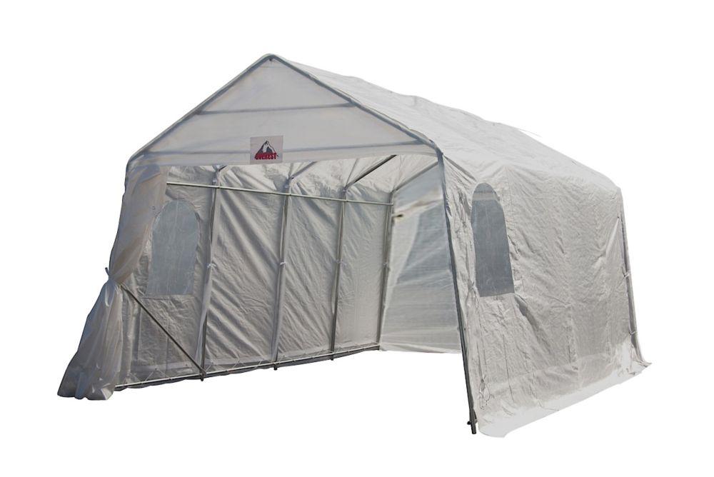 Everest Car Shelter 11 X 16 Feet White