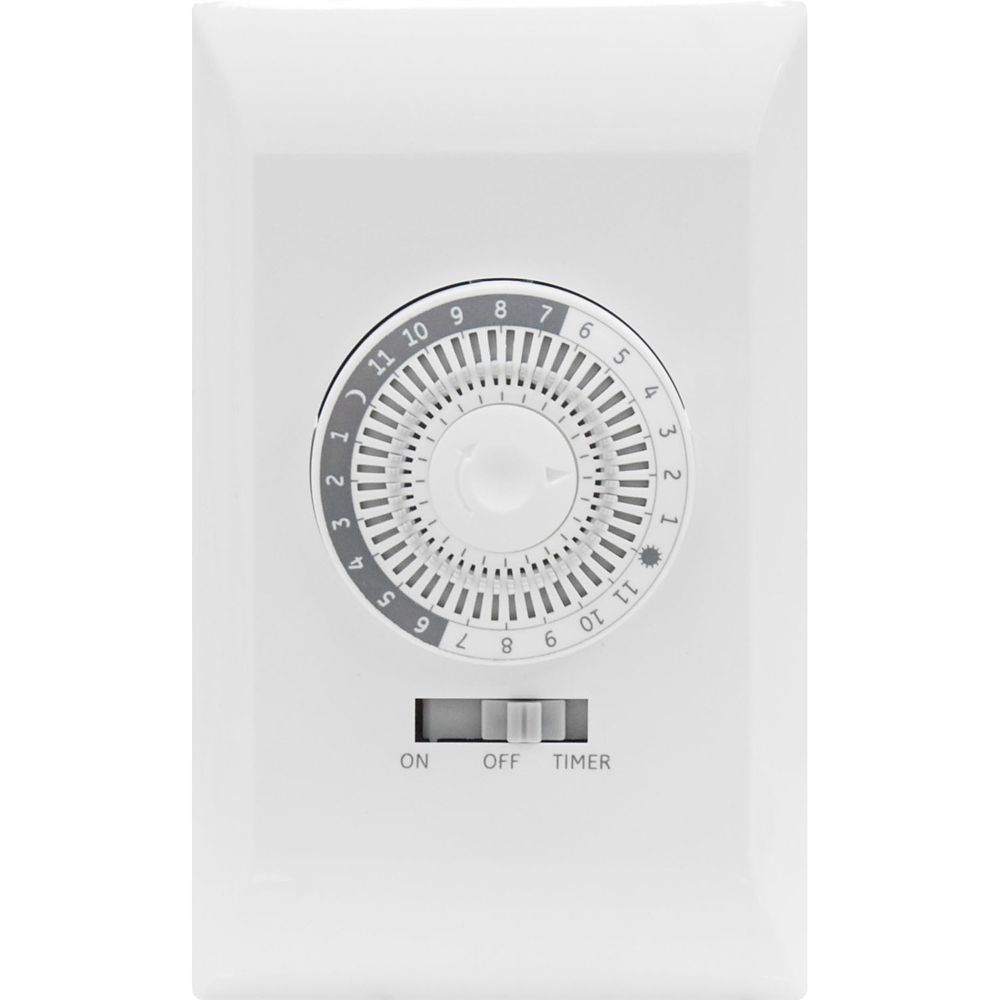 In Wall 24 Hour Mechanical Timer With Wall Plate