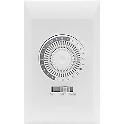 Defiant In Wall 24 Hour Mechanical Timer With Wall Plate