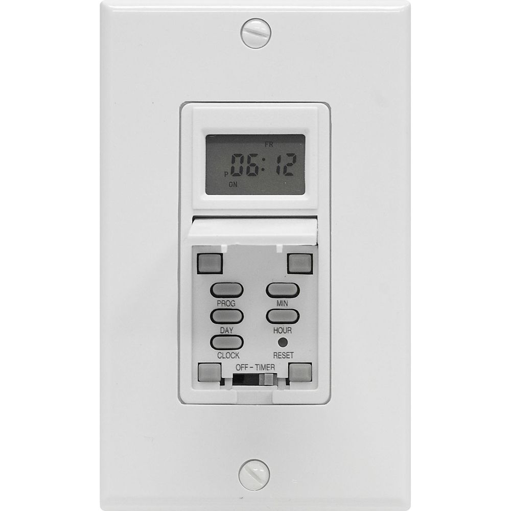 In Wall 7 Day Digital Timer