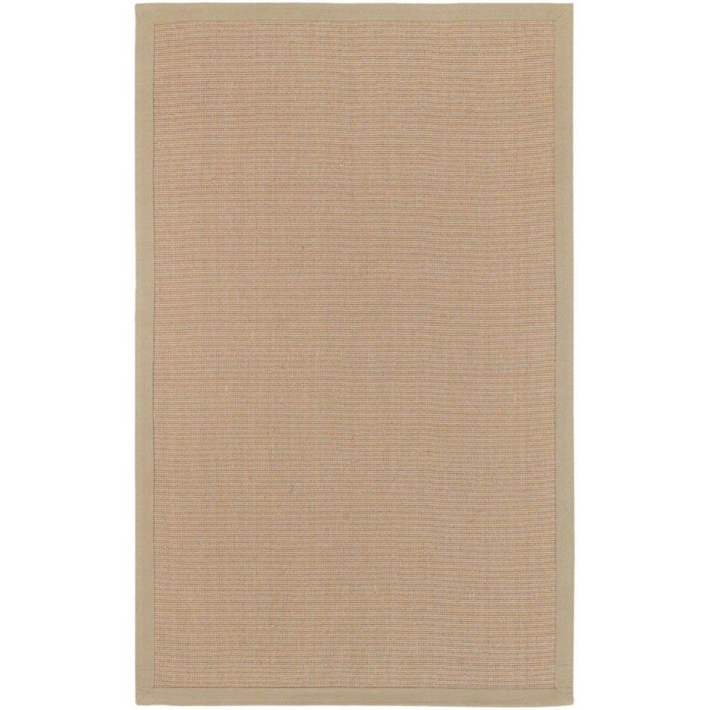 Border Town Beige Sisal/Cotton 6 Feet x 9 Feet Area Rug