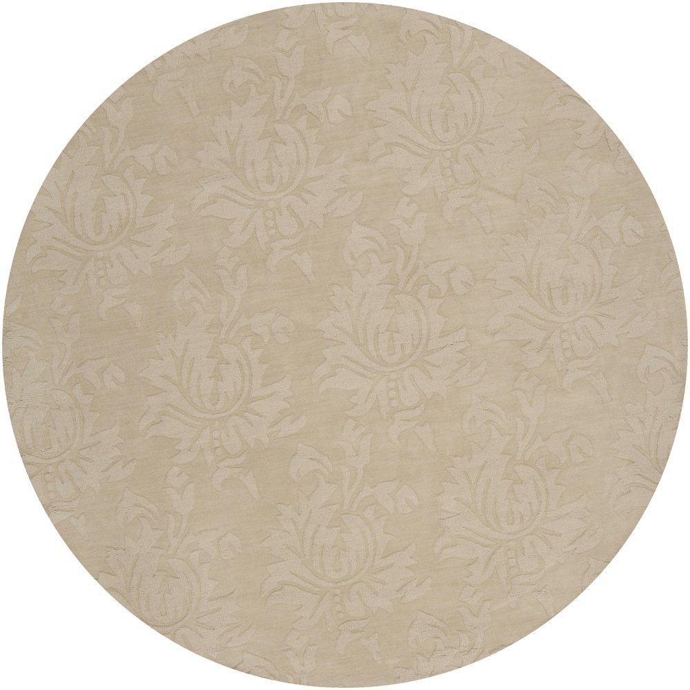 Sofia Beige Wool 8 Feet x 8 Feet Area Rug SOP7004-8RD Canada Discount