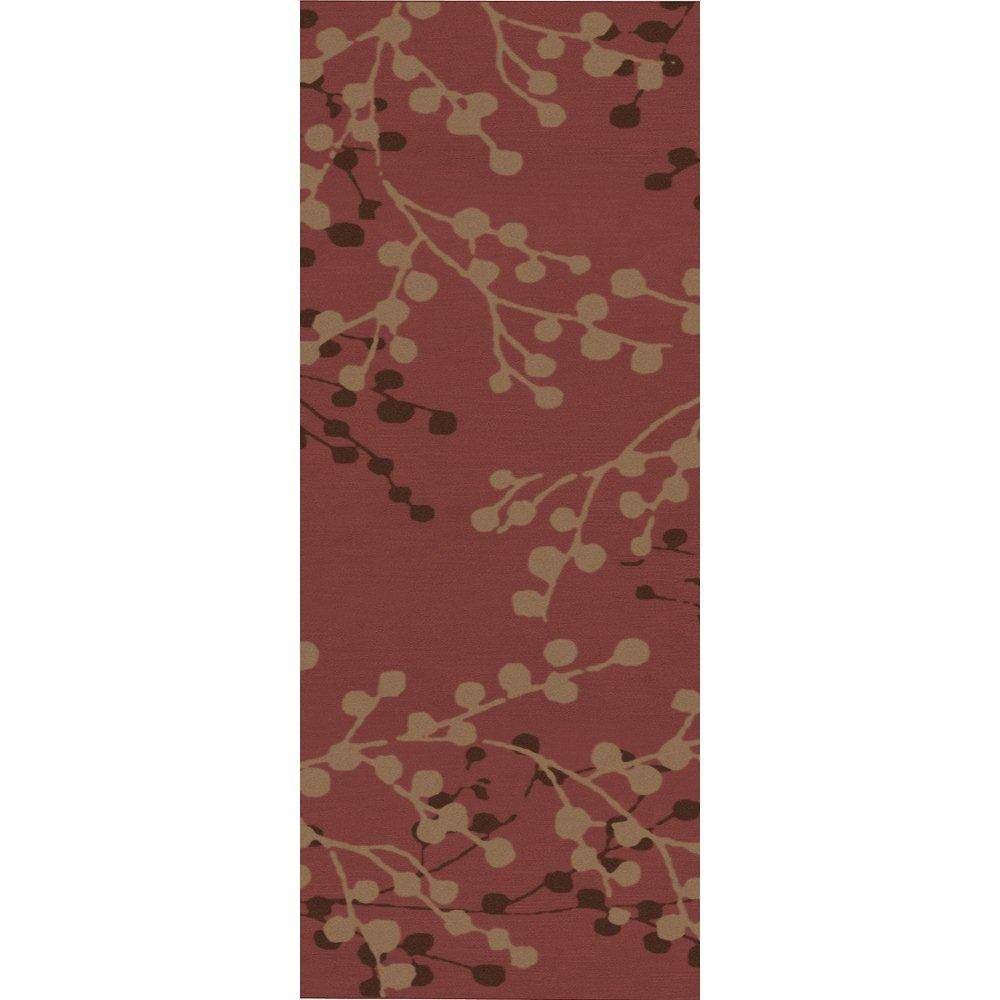 artistic weavers tapis de passage blossoms rouille en laine 2 pi 6 po x 8 pi home depot canada. Black Bedroom Furniture Sets. Home Design Ideas