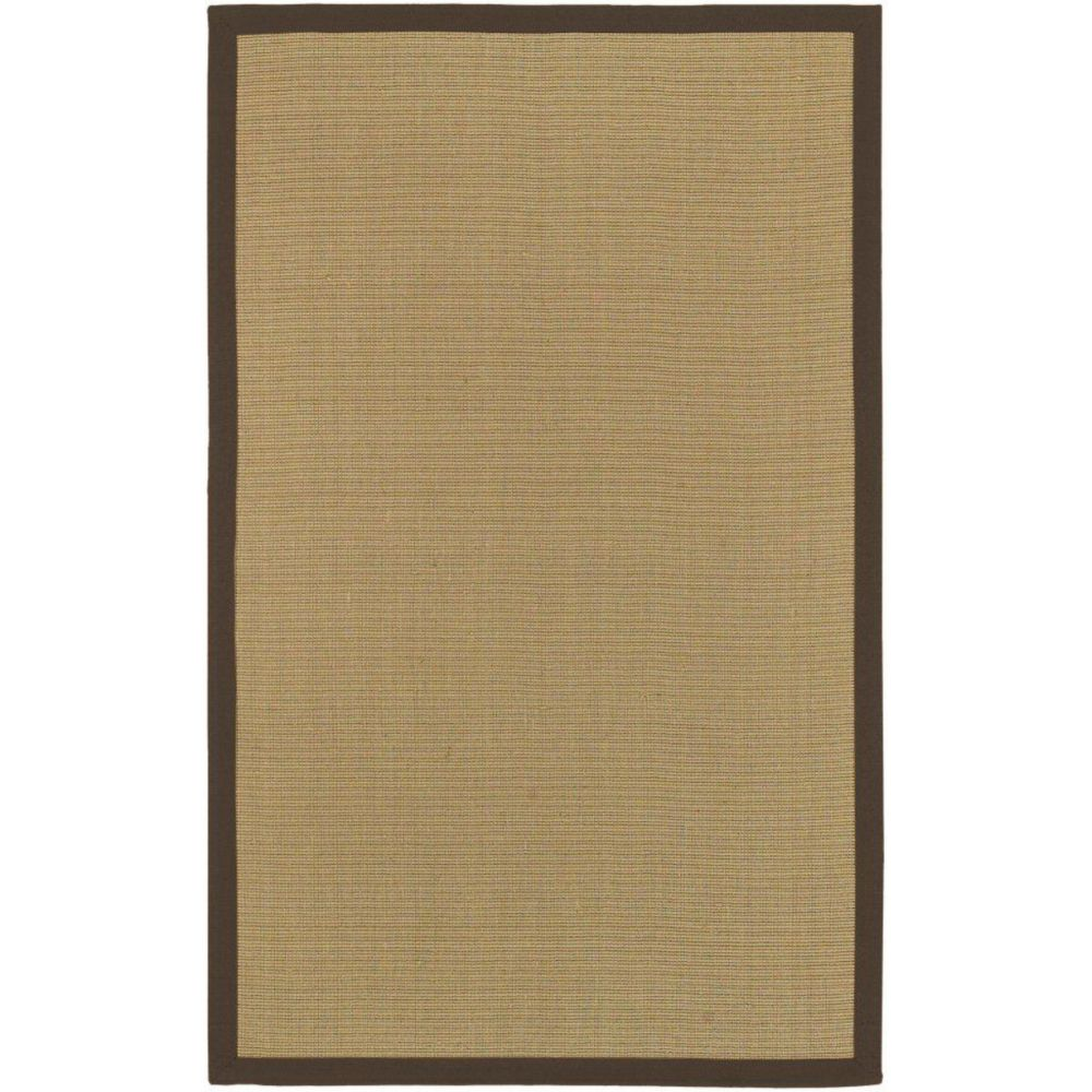 Border Town Chocolate Sisal/Cotton 6 Feet x 9 Feet Area Rug