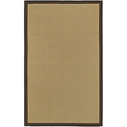 Artistic Weavers Carpette d'intérieur, 5 pi x 7 pi 9 po, style transitionnel, rectangulaire, havane Border Town