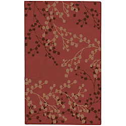 Artistic Weavers Blossoms Red 3 ft. 6-inch x 5 ft. 6-inch Indoor Transitional Rectangular Area Rug