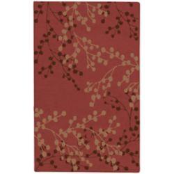 Artistic Weavers Carpette d'intérieur, 9 pi x 12 pi, style transitionnel, rectangulaire, rouge Blossoms