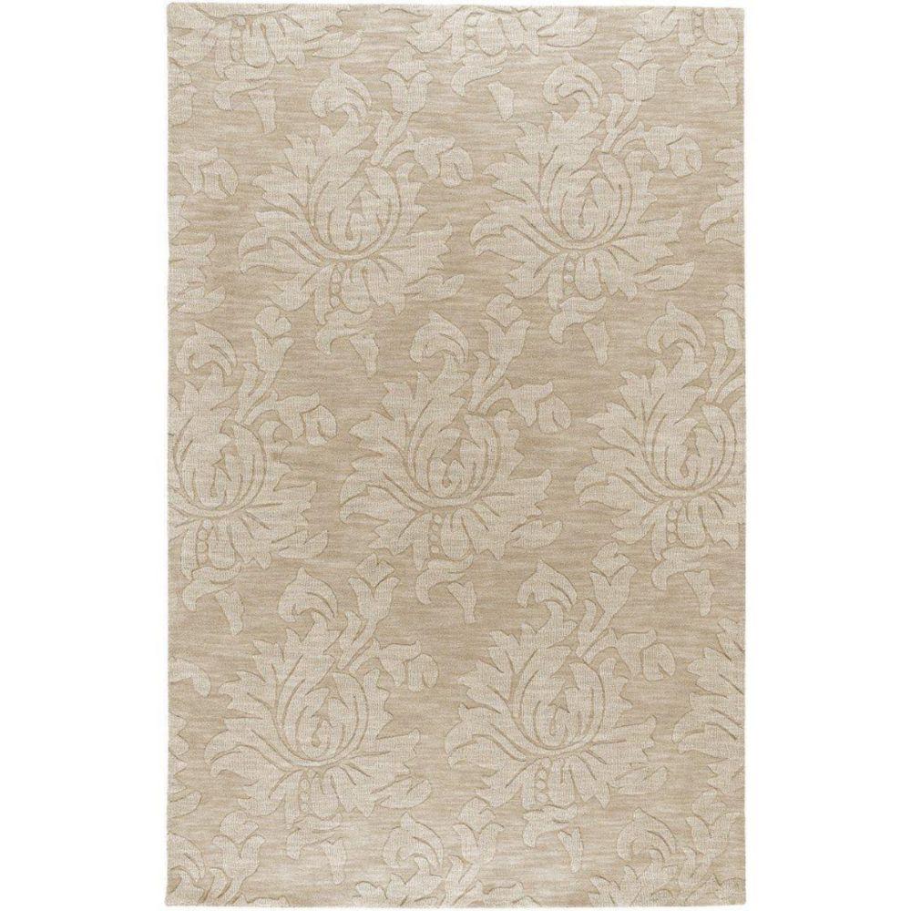 Tapis Sofia beige en laine- 5 pieds x 7 pieds9 Po.