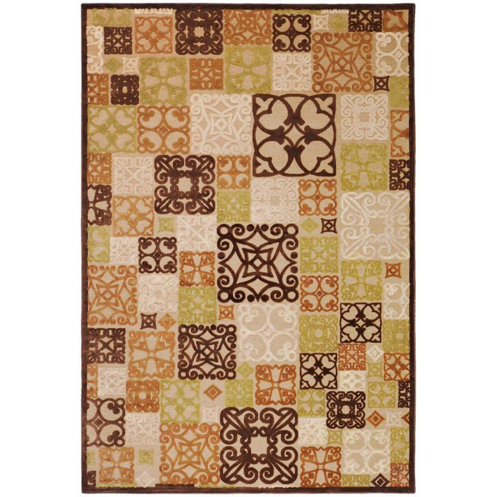 Tyler Natural Viscose/Chenille 5 Feet 2 Inch x 7 Feet 6 Inch Area Rug