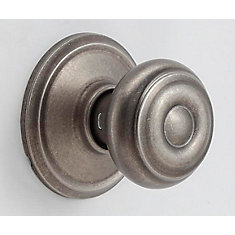 Georgian  Distressed Nickel Non-Locking Hall and Closet Door Knob