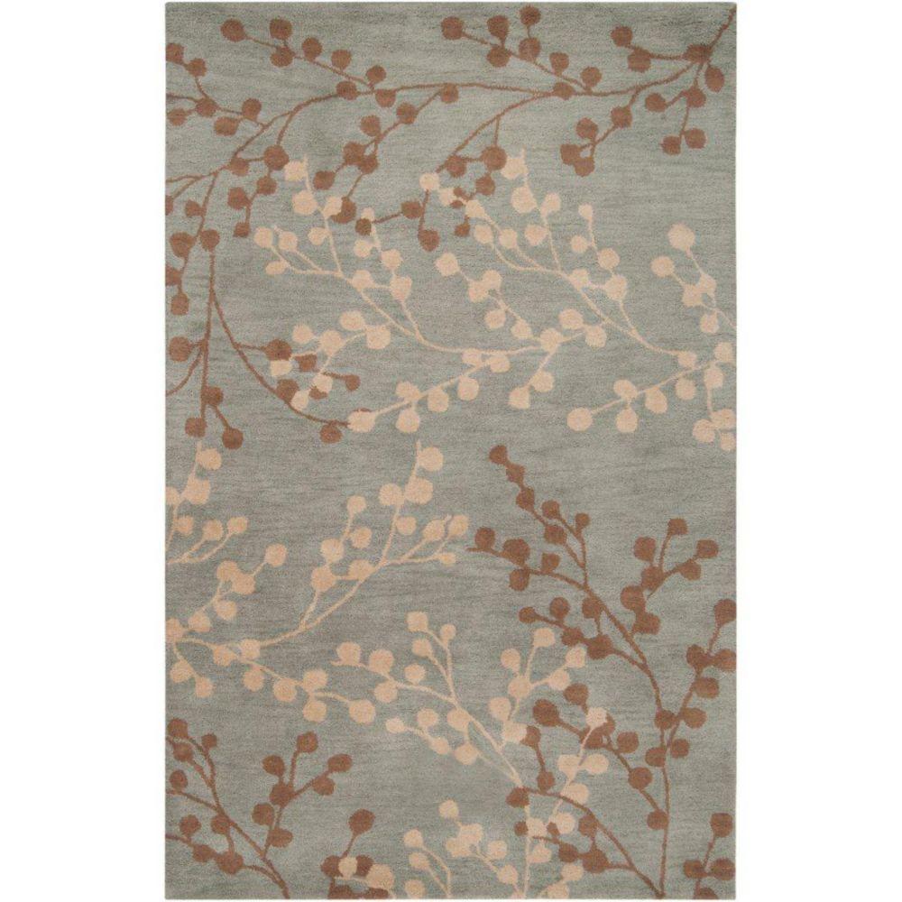 Artistic Weavers Blossoms Blue 5 ft. x 8 ft. Indoor Transitional Rectangular Area Rug
