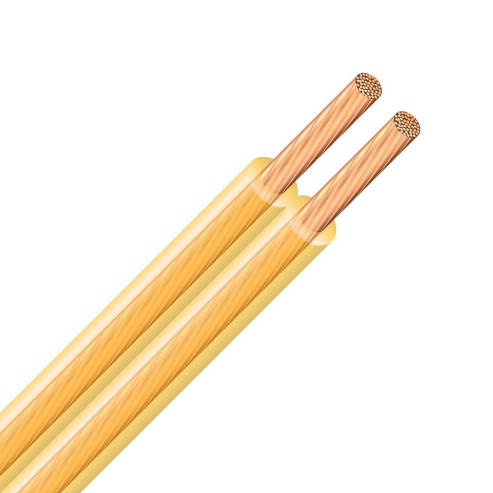 SPT Copper Electrical Lamp Cord - 18/2 Gold 7.5m