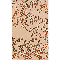 Artistic Weavers Blossoms Beige Tan 8 ft. x 10 ft. Indoor Transitional Rectangular Area Rug