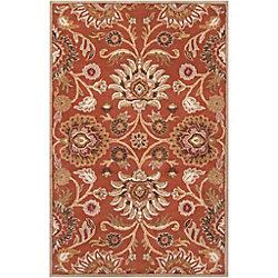 Artistic Weavers Carpette d'intérieur, 9 pi x 10 pi, style contemporain, rectangulaire, orange Amanda