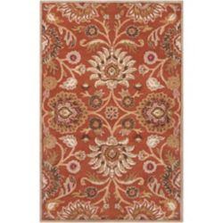 Artistic Weavers Carpette d'intérieur, 3 pi 6 po x 5 pi 6 po, style contemporain, rectangulaire, orange Amanda