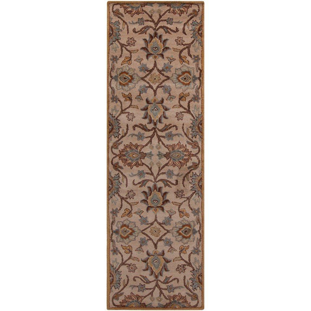 Tapis Amanda ivoire en laine - 2 pieds 6 pouces x 8 pieds