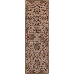 Artistic Weavers Tapis de passage d'intérieur, 2 pi 6 po x 8 pi, style contemporain, brun Amanda