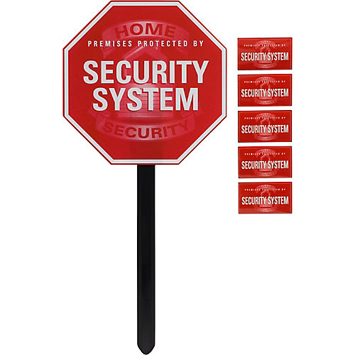 Security Sign With Yard Stake