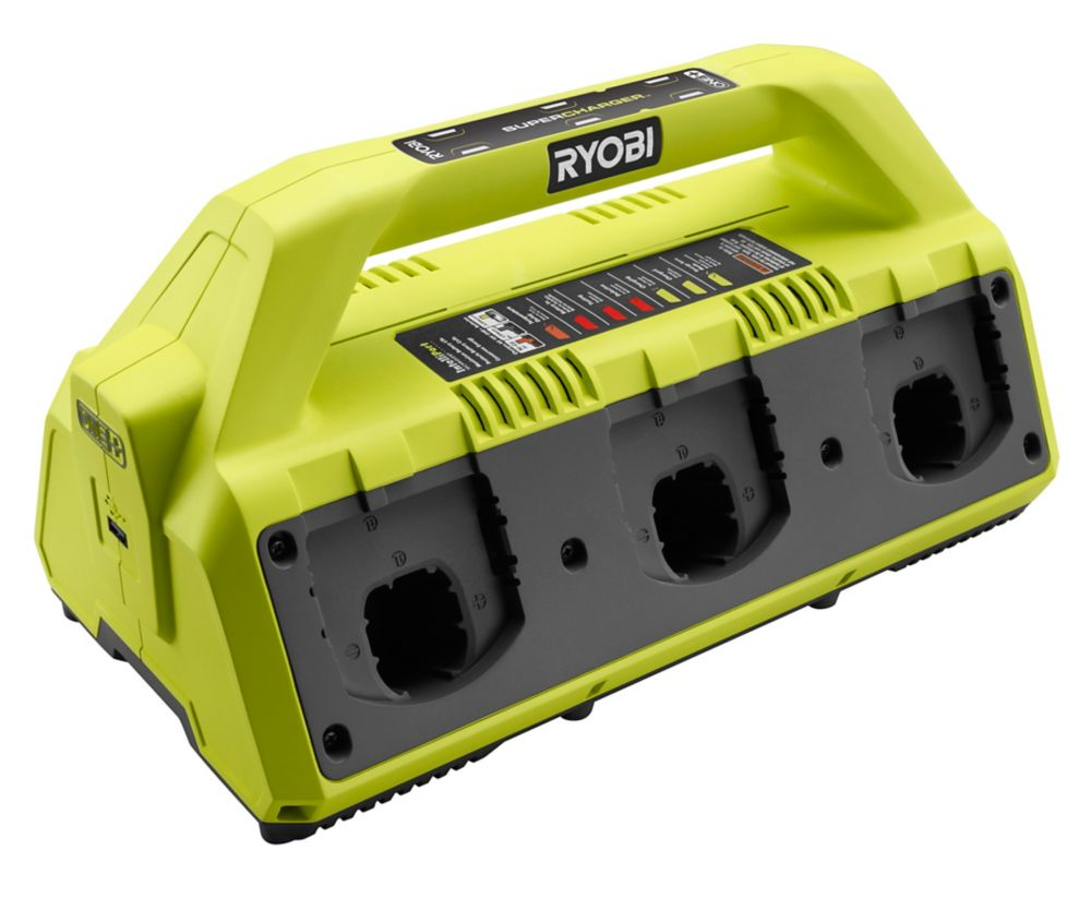 Ryobi 18V ONE+ Battery 6-Port Super Charger P135