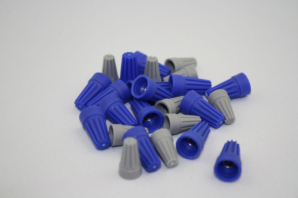 CE Wire Connectors Blue/Grey Qty 25